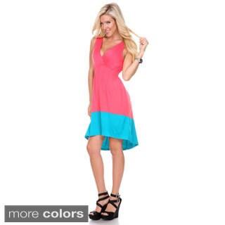 Stanzino Women's Colorblock V-neck Knee Length Dress