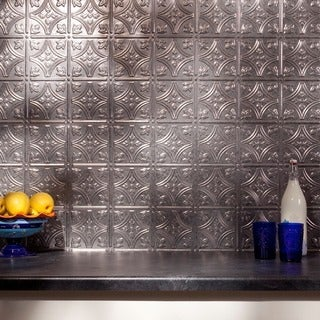 Fasade Traditional 1 Galvanized Steel Backsplash Panel