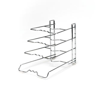 Seville Classics Chrome 4-tier Pan Organizer Rack