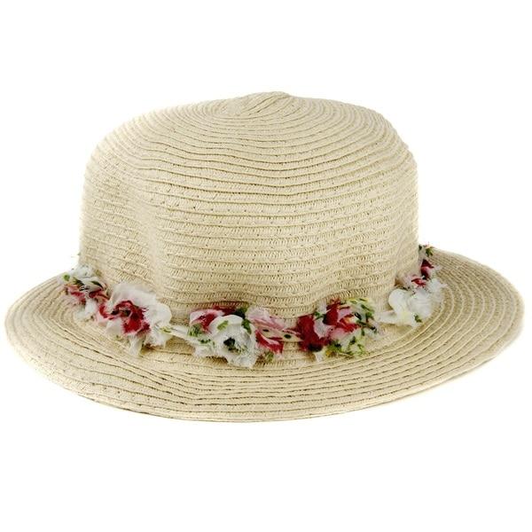 Crummy Bunny Kids' Straw Floral Sun Hat