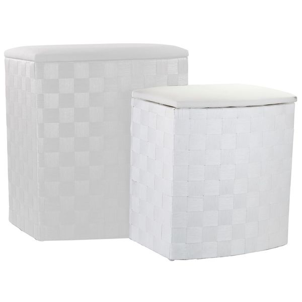 Home Basics Wicker Laundry Hampers (Set of2)
