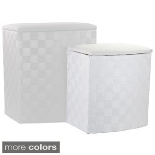 Home Basics Wicker Laundry Hampers (Set of2)