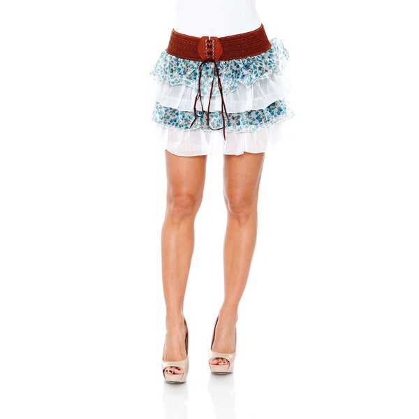 Women's Ruffle Trim Mini Skirt
