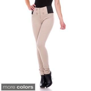 Stanzino Women's Banded Waist Front Zip Pants