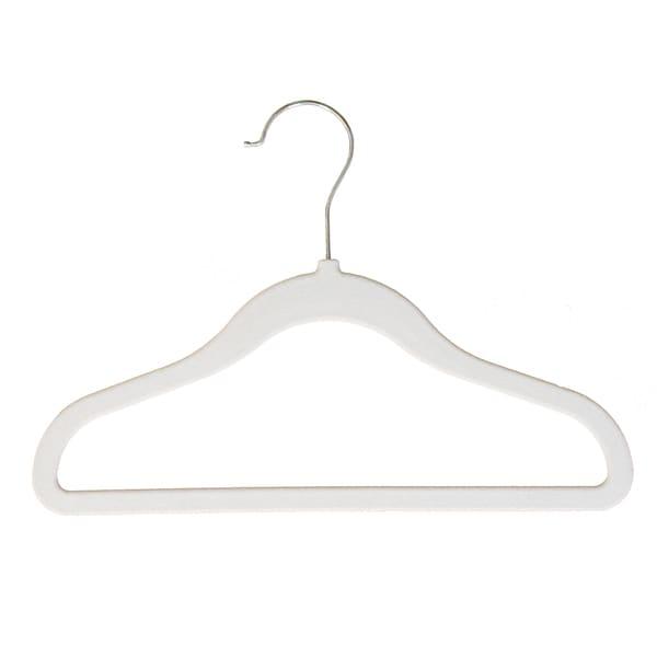 Ivory Velvet Non-Slip Child Size Clothing Hangers (10-pack)