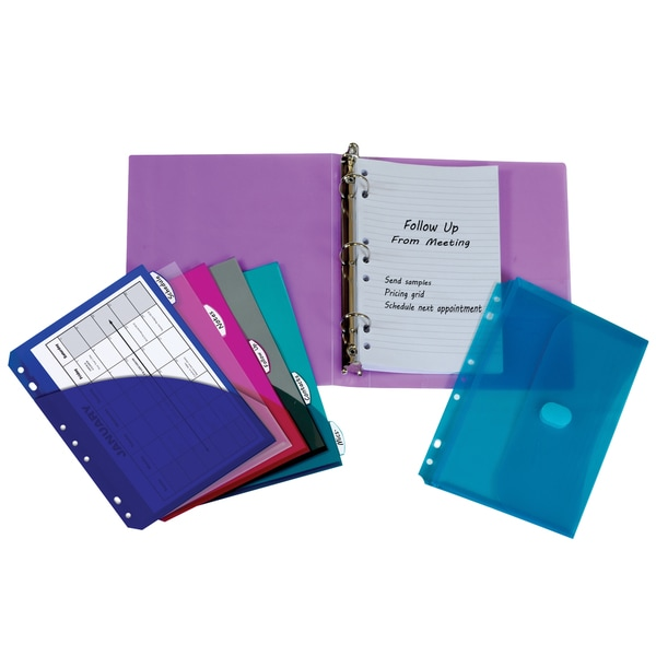 C-line Products Assorted Color Mini Size Binder Starter Kit (Set of 2 Binder Kits)