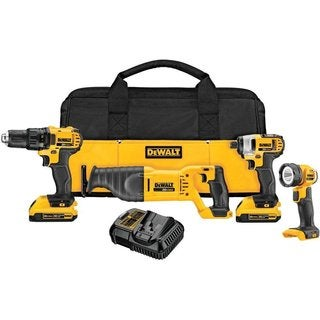 DeWalt 20V Max Cordless Lithium-Ion 4-Tool Combo Kit DCK420D2R (Refurbished)