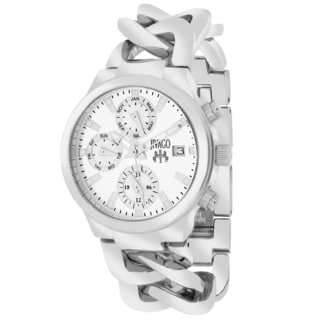 Jivago Women's JV1240 Lev Mini Round Silvertone Stainless Steel Bracelet Watch