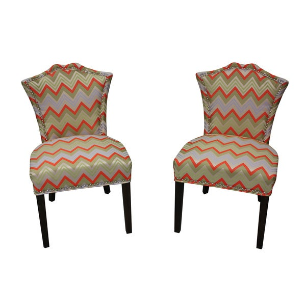 Sweetheart Orange Chevron Dining Chair (Set of 2)