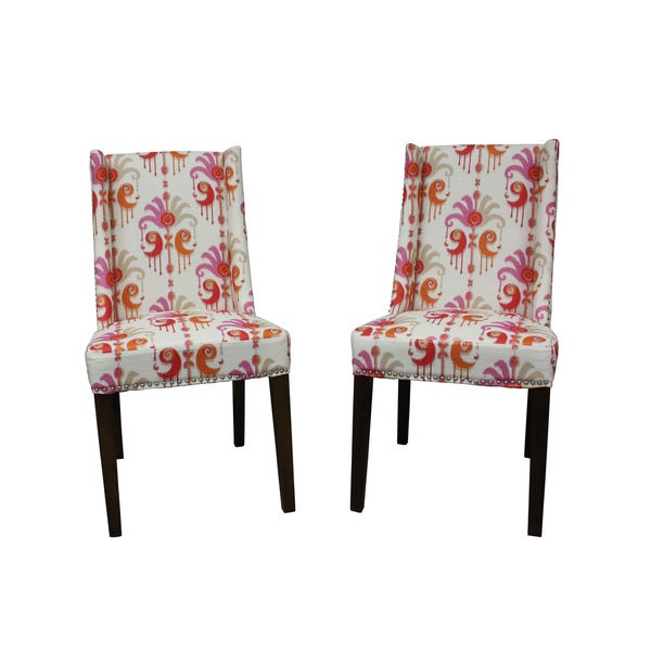 Mock Wingback Orange I-Kat Dining Chair (Set of 2)