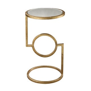 LS Dimond Home Mirrored Top Hurricane Side Table