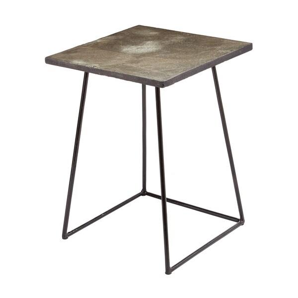 LS Dimond Home Linear Concrete Accent Table