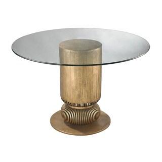 LS Dimond Home Gold Leaf Sock Bun Entry Table