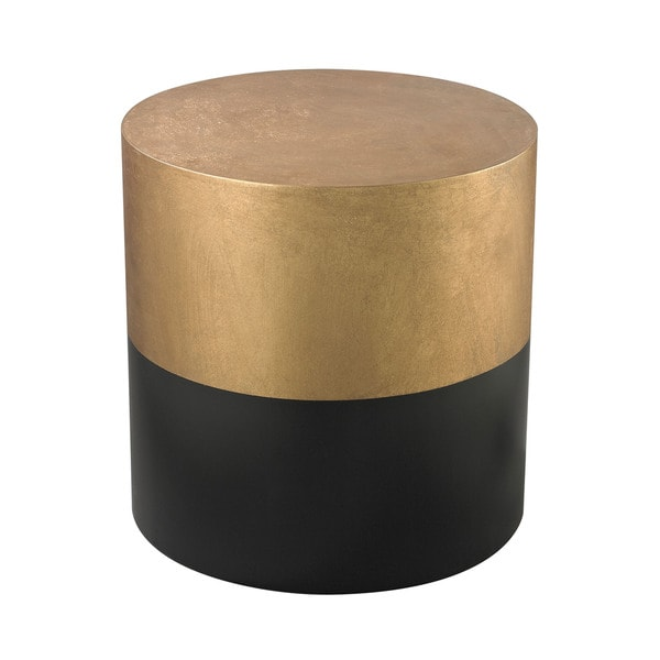 LS Dimond Home Black and Gold Draper Drum Table