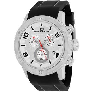 Oceanaut Men's OC3121R Impulse Sport Round Black Silicone Strap Watch