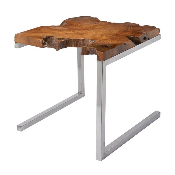 LS Dimond Home Teak Table with Angular Base