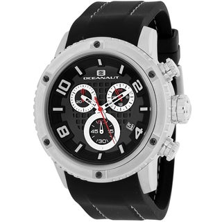 Oceanaut Men's OC3120R Impulse Sport Round Black Silicone Strap Watch