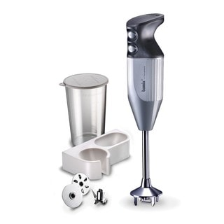 Bamix Mono M133 140 watt, 2-speed, 3-blade Immersion Hand-blender, with Beaker, and Wall Bracket
