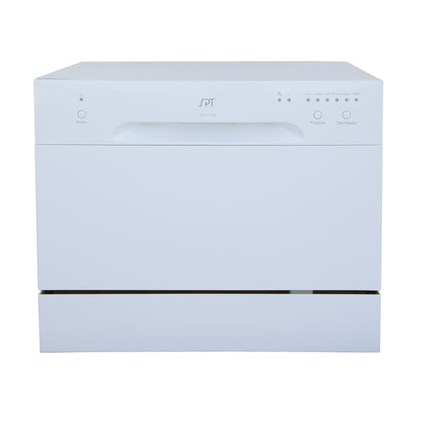 SPT 6 Place Setting White Countertop Dishwasher