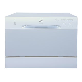 SPT 6 Place Setting Silver Countertop Dishwasher
