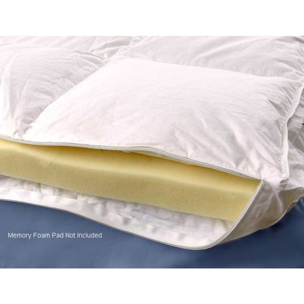 Down Alternative Gusseted Design Euro Top Cover for Memory Foam Topper in Queen (As Is Item)