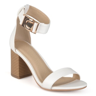 Journee Collection Women's 'Vine' Strappy Chunky Heel Pumps