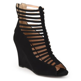 Journee Collection Women's 'Basil' Open Toe Caged Wedges