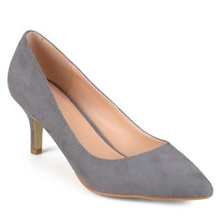 Journee Collection Women's 'Florian-S' Pointed Toe Classic Sueded Pumps
