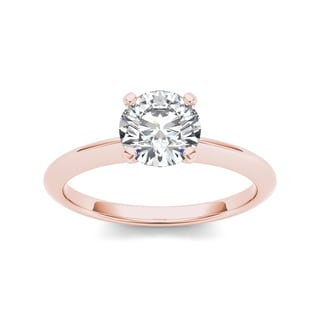 De Couer 14k Rose Gold 3/4ct TDW Diamond Impeccable Engagement Ring (H-I, I2)