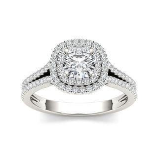 De Couer 14k Gold 1 1/10ct TDW Diamond Engagement Ring (H-I, I2)