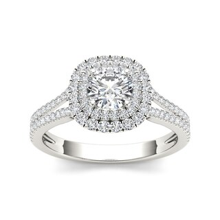 De Couer 14k Gold 1 1/3ct TDW Diamond Engagement Ring (H-I, I2)