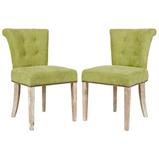 angelo:HOME Lexi Parisian Green Meadow Velvet Dining Chair (Set of 2)