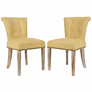angelo:HOME Lexi Parisian Butter Yellow Dining Chair (Set of 2)