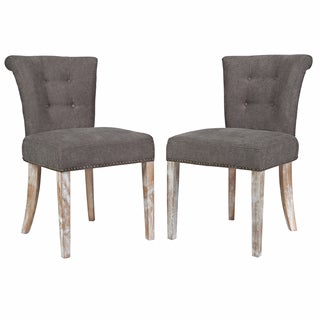 angelo:HOME Lexi Parisian Smoke Grey Dining Chair (Set of 2)