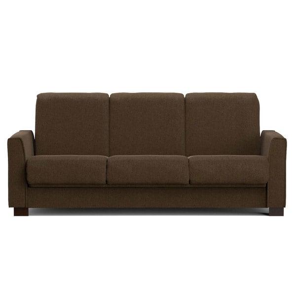 Portfolio Bryant Brown Chenille Convert-a-Couch Futon Sofa Sleeper