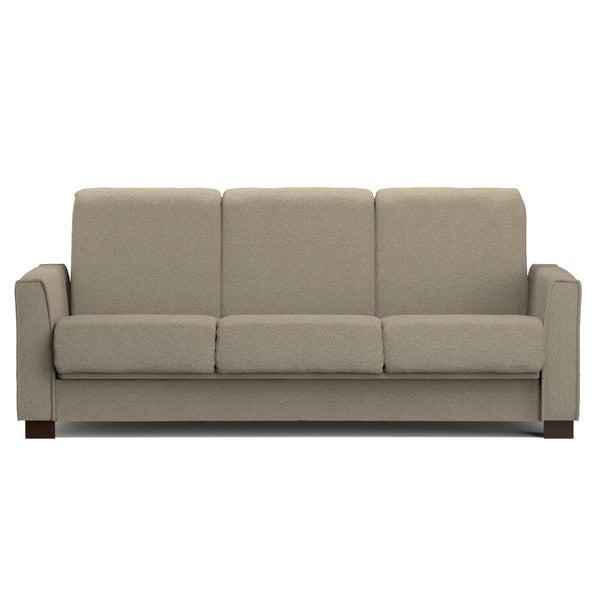 Portfolio Bryant Taupe Chenille Convert-a-Couch Futon Sofa Sleeper