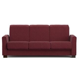 Portfolio Bryant Berry Red Chenille Convert-a-Couch Futon Sofa Sleeper