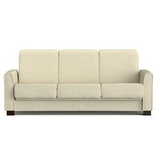 Portfolio Bryant Ivory Chenille Convert-a-Couch Futon Sofa Sleeper