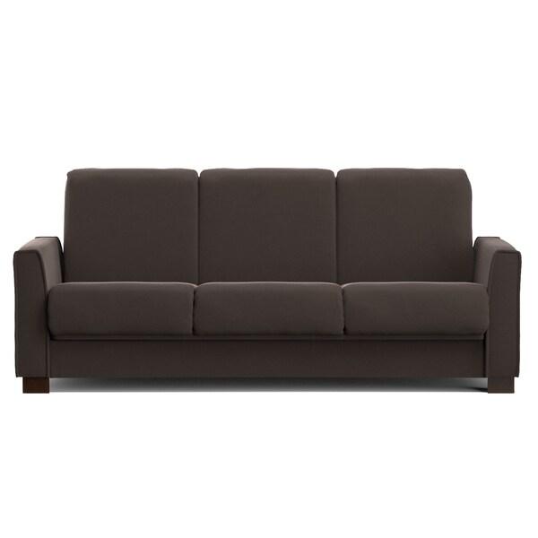 Portfolio Bryant Rum Raisin Microfiber Convert-a-Couch Futon Sofa Sleeper