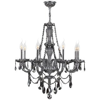 Provence Collection 8 Light Chrome Finish and Smoke Crystal Chandelier