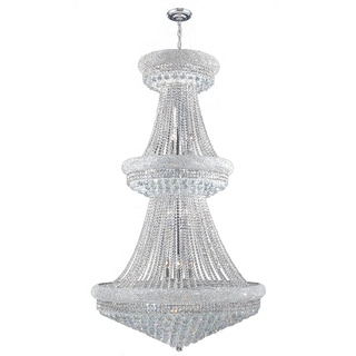 Empire Collection 32 Light Chrome Finish and Clear Crystal Chandelier