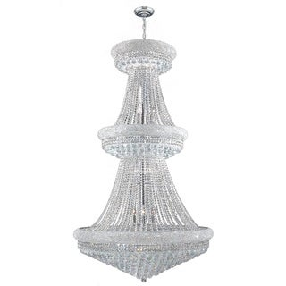 Majestic 32-light Chrome Finish Clear Crystal French Empire 2-tier Chandelier