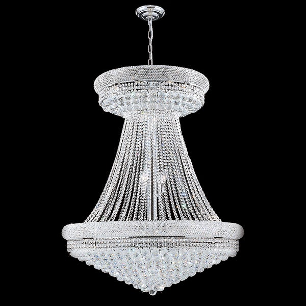28 Light Chrome Finish And Clear Crystal 36 Inch Wide French Empire