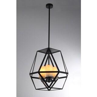 Aishani 3-light Black Finish 17-inch Pendant