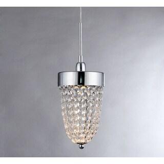 Isabella 1-light Chrome-finished Crystal Pendant