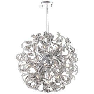 Medusa Collection 25 Light Chrome Finish with Clear Crystal Chandelier