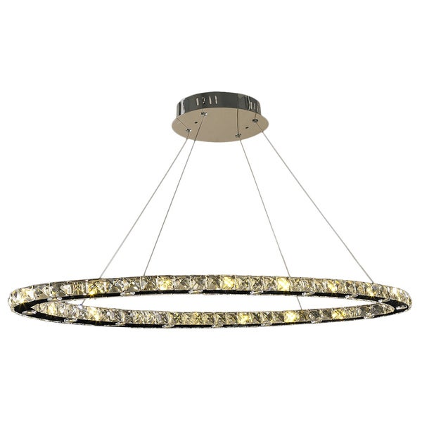 Galaxy 32 LED Light Chrome Finish and Clear Crystal Chandelier