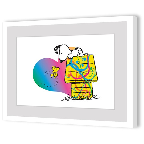 Woodstock and Snoopy Rainbow Heart
