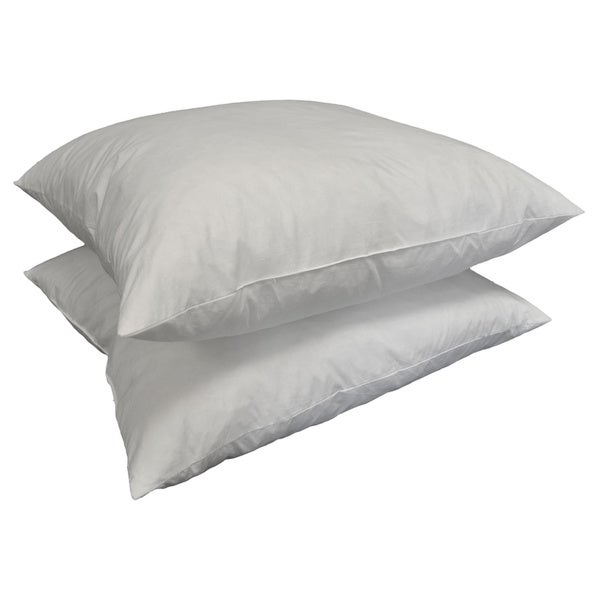 Square 24-inch Feather Pillow Insert (Set of 2) (As Is Item)