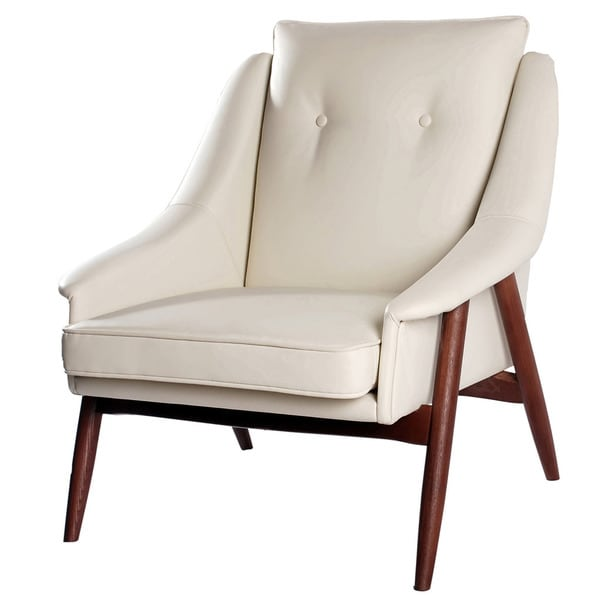 Brandon Faux Leather Accent Chair Overstock